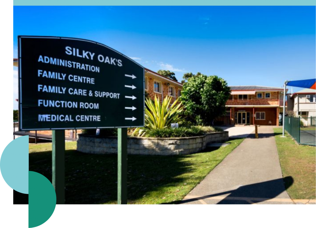 silky oaks front signage and building